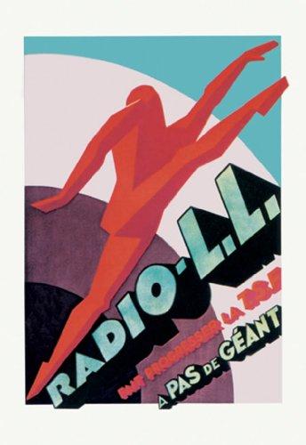 Modern Running Man, Or Radio-Ll - Fait Progresser La Tsf -, 12X18 Paper Giclée