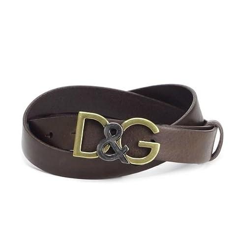 (ドルチェ&ガッバーナ)DOLCE&GABBANA D&Gバックルベルト ダークブラウン 長さ86cm