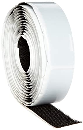 3M Fastener TB3530/TB3531 Hook/Loop Black, 1 in x 10 ft (1 mated strip) (1 Mated Strip/Bag)