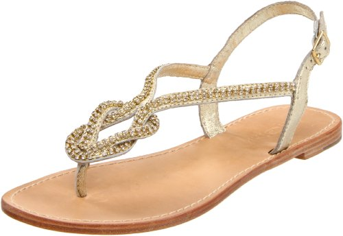 ZiGiny Women's Intrigue Thong Sandal,Gold,10 M US