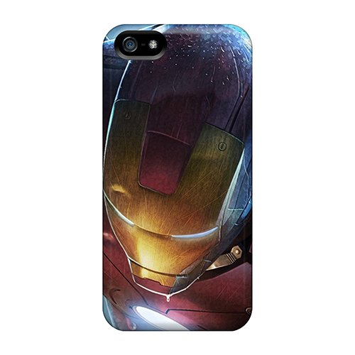 Slim Fit Tpu Protector Shock Absorbent Bumper Iron Man Case For Iphone 5/5S front-56973