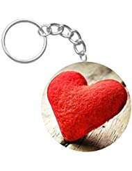 Stuffed Heart Love | ShopTwiz Printed Circle Key Ring