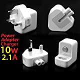 10W USB Power Adapter Wall Mains Charger AC Adaptor UK Plug 2.1 amp for Apple iPad 2 3 / iPhone 4 4S / iPods - White