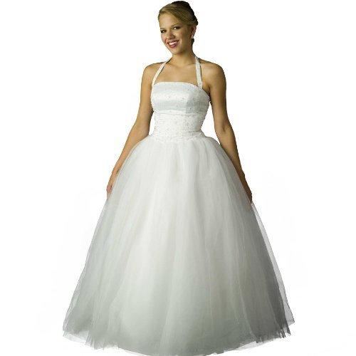 White Tulle Ball Gown - Informal Bridal Gown, Prom Dress by Sean Collection (B8026) White 8