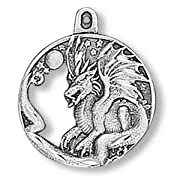 Dragon Circle Pewter Charm