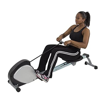 Best Choice Products® Rowing Machine Fitness Space Saver Pulley Row Low Impact Cario Workout Gym
