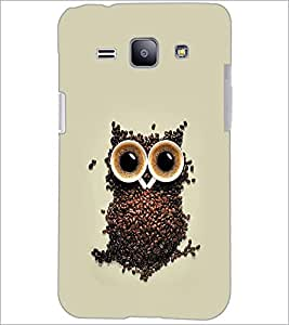 PrintDhaba Owl D-2191 Back Case Cover for SAMSUNG GALAXY J1 (Multi-Coloured)