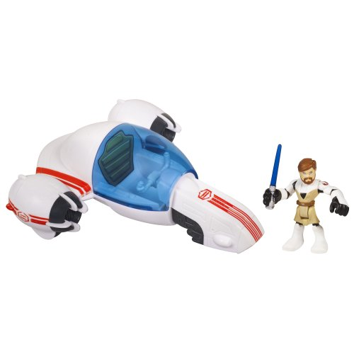 418247wGs7L Star Wars Jedi Force Playskool Heroes Freeco Bike with Obi Wan Kenobi Set