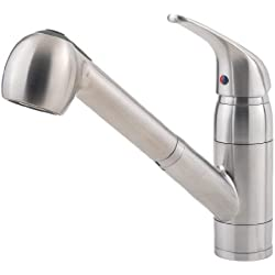 Pfister Pfirst Series 1-Handle Pull-Out Kitchen Faucet, Stainless Steel