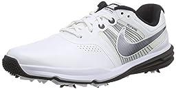 Nike 704427-10210 Lunar Command Mens Golf Shoes, White & Black - 10 Medium