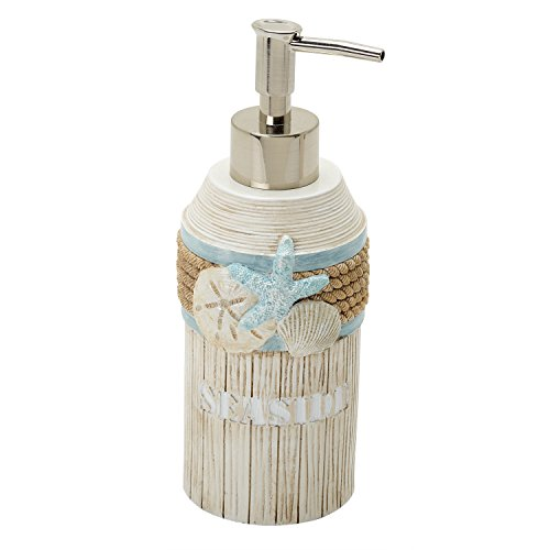 Zenna Home, India Ink Seaside Serenity Lotion or Soap Dispenser, Coastal/Beach (Sea Shell Soap Dispenser compare prices)