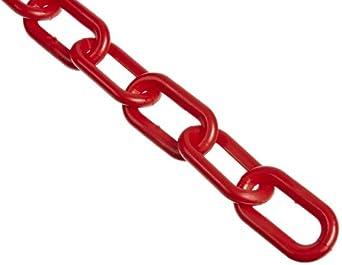 "Mr. Chain 50105 High Density Polyethylene Chain on a Reel, Trade Size 8, 125' Length x 2"" Width"