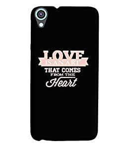 KolorEdge Back Cover For HTC Desire 820 - Black (2137-Ke15175HTC820Black3D)