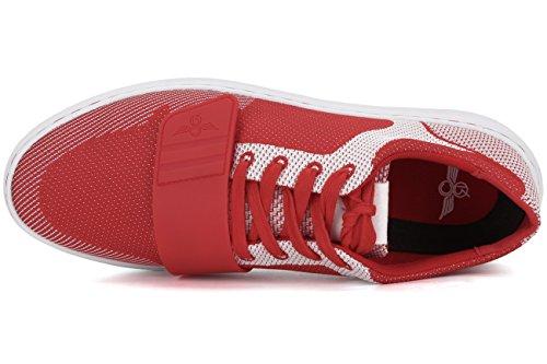Creative Recreation Men's Cesario Lo Woven Fashion Sneaker, Red/White, 13 M US