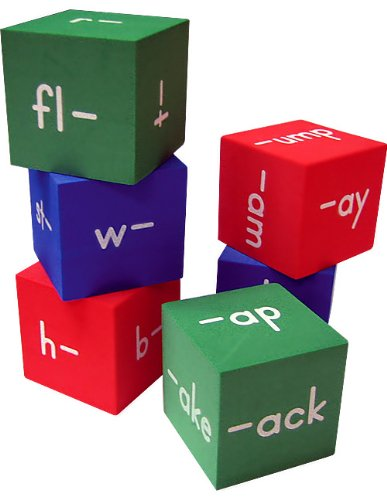 Foam: Word Families Cubes