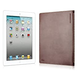 elago Note Leather Cover for iPad2,3,4 - Dark Brown