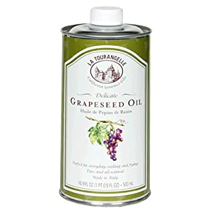 La Tourangelle Grapeseed Oil, 16.9-Ounce Cans (Pack of 4)