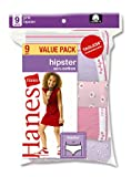 Hanes Girls Hipster Panties Bright Assorted 9 Pack