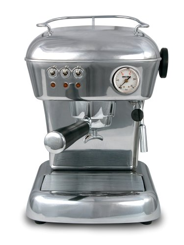 Ascaso DR.118 Dream 16-Bar-Pump Espresso Machine, Polished Aluminum