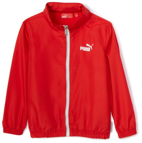 Puma Boys 2-7 Toddler Packable Windbreaker,Red,3T