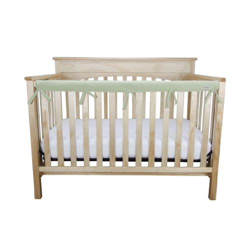 Trend-Lab-Fleece-CribWrap-Rail-Cover-for-Long-Rail-Sage-Narrow-for-Crib-Rails-Measuring-up-to-8-Around