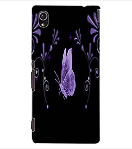 ColourCraft Lovely Butterfly Design Back Case Cover for SONY XPERIA M4 AQUA