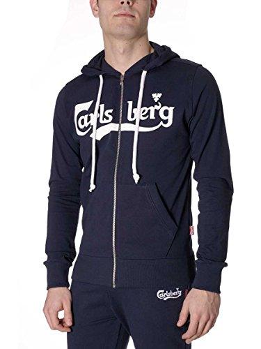Felpa Carlsberg in Cotone Jersey Uomo CBU2047 Made in Italy Blu, XXL MainApps