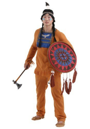 Plus Size Mens Brave Indian Warrior Costume