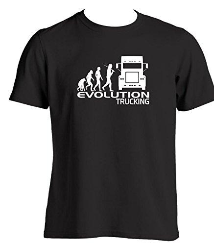 Evolution da uomo a forma di T per autocarri Slogan idee regalo per un camionista camion cabina accessori Natale regalo di compleanno per i conducenti Black Medium
