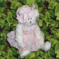 "TY ATTIC TREASURE 1993 ""NOLA"" THE WHITE BEAR WITH DRESS & HAT, FULLY JOINTED"