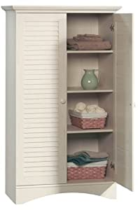 Harbor View Storage Cabinet in Antiqued White