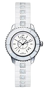 Christian Dior Women's CD113111R001 Christal White Sapphire Dial Watch by Christian Dior
