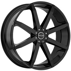 Akuza 843 Zenith 24×8.5 Black and Machined Wheel / 5x115mm 5x120mm/ 35mm Offset / 74.1mm Hub Bore