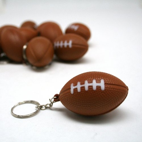 Foam Football Keychains : package of 12