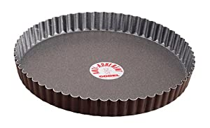 Paderno World Cuisine 11 Inch Fluted Non-Stick Tart Pan with Removable Bottom by Paderno World Cuisine