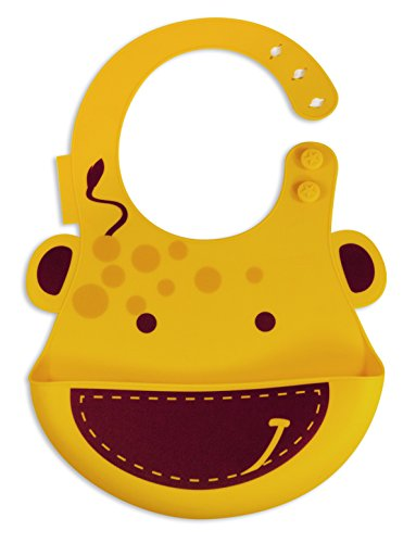 Marcus & Marcus Lola the Giraffe Baby Bib - Yellow - 1