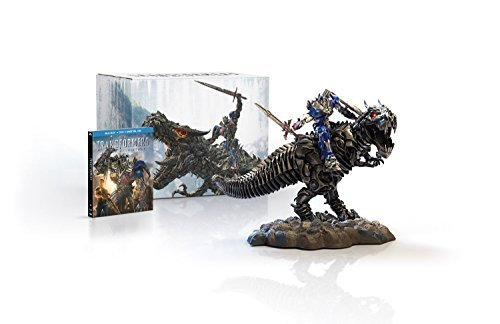 Transformers: Age of Extinction Limited Edition Blu Ray Gift Set with Grimlock and Optimus Collectible Statue