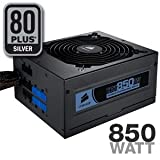 Corsair HX Professional Series 850-Watt 80 Plus Certified Power Supply Compatible with Core i7 and Core i5 – CMPSU-850HX