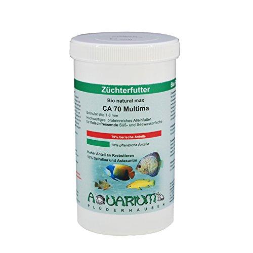Bio natural max ca70 zierfisch alleinfutter granulat 1 8 for Skalar futter
