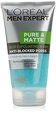 L'Oreal Paris Men Expert Pure and Matte Scrub Face Wash, 150 ml