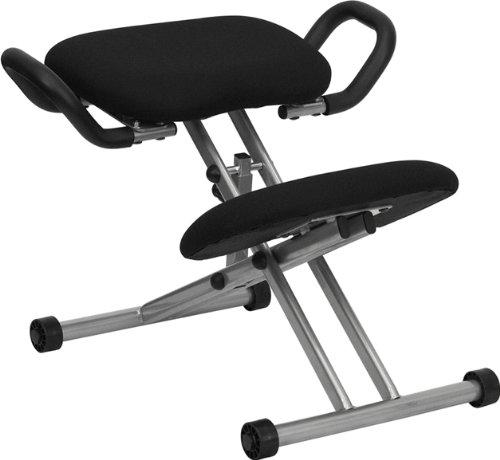 Flash Furniture WL-1429-GG Ergonomic Kneeling Chair in Black Fabric with Handles