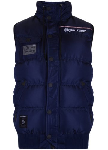 Mens 'Raw Craft' Padded Gilet. Style Name - Cesar (C601207C). In Navy Size - Large