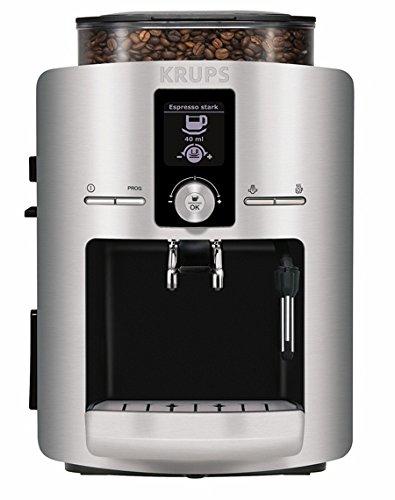 Krups EA 8260 Kaffee-Vollautomat aluminium / 15 bar / 1,8 l Wasserbehälter / Cappuccinatore/ schwarz