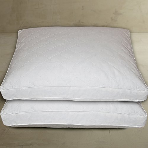 Blue Ridge Home Fashion Classic 233 Thread Count Cotton Quilted Feather Pillow (2 Pack), Jumbo, White (Blue Ridge Home Fashions Inc compare prices)