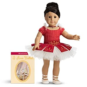 American Girl Ruby Ballet Dress/leotard, Ballet Toe Shoes, Ribbon Necklace Outfit + I Love Ballet Book