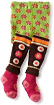 Jefferies Socks Baby-Girls Newborn Blossom Tight, Blossom, 18-24 Months