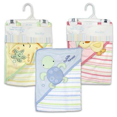 "Bunchkin Infant Hooded Bath Towel (asstd-30""x30"") - 1"