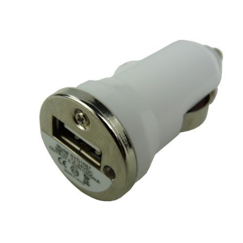 Brainydeal White Compact Car Socket Universal Usb Mini Car Charger Adapter For Digital Cameras, Pdas