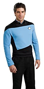 Star Trek the Next Generation Deluxe Blue Shirt, Adult Medium Costume