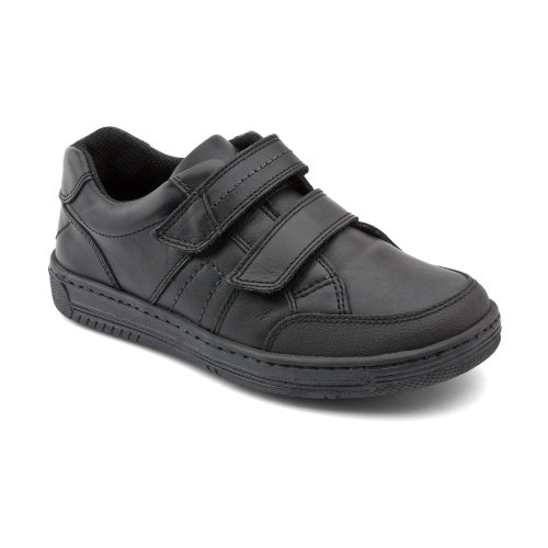 Start-Rite Boys Atom Black Leather Junior Shoes F